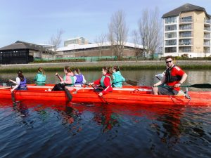 Bellboating on the River Lagan in Belfast